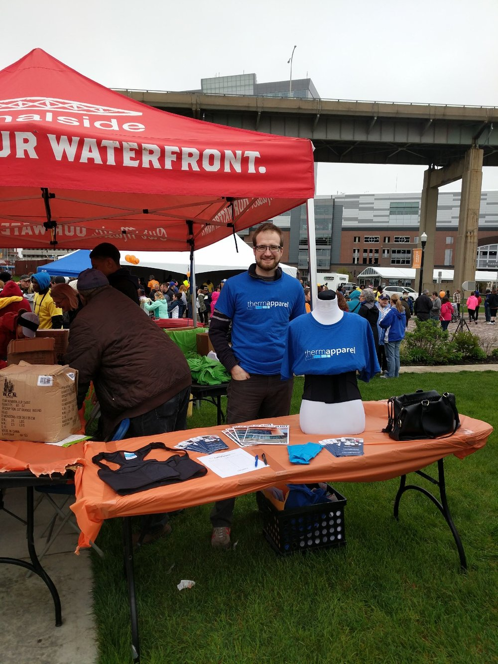 ThermApparel table at Walk MS in Buffalo NY