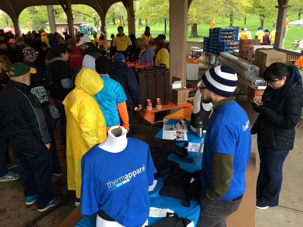 ThermApparel and walkers at Walk MS Rochester