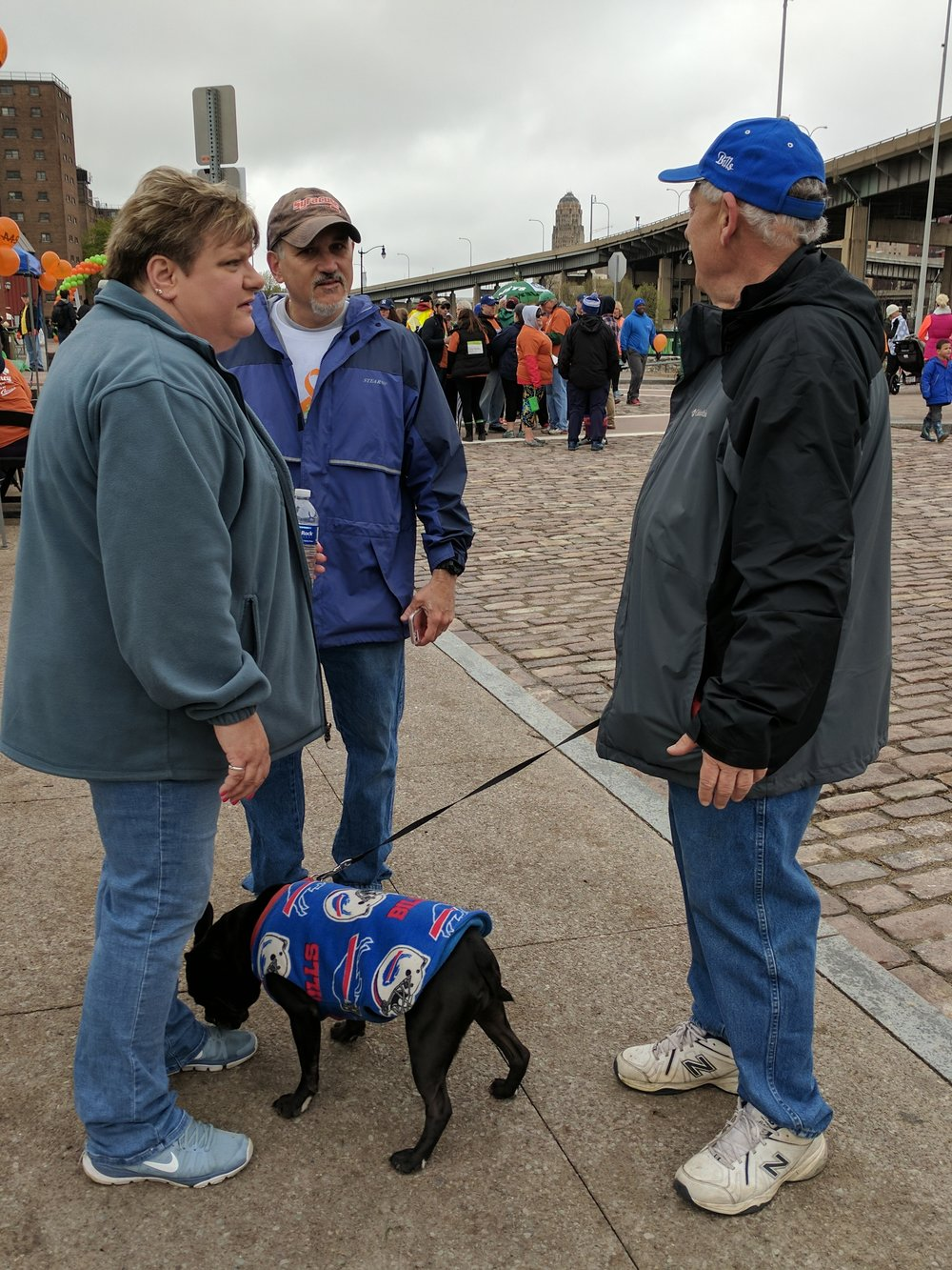 Walkers and their dog at Walk MS Buffalo