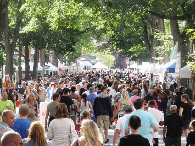 Crowds at Park Ave Fest in Rochester, NY.