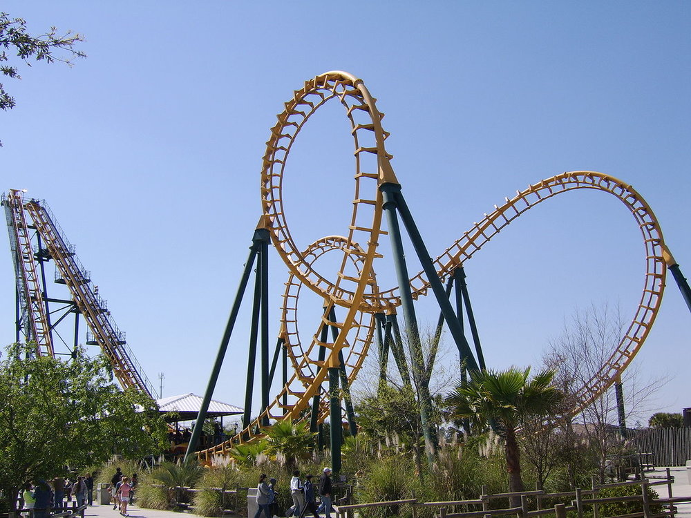 Vekoma Boomerang roller coaster at Wild Adventures Amusement Park.