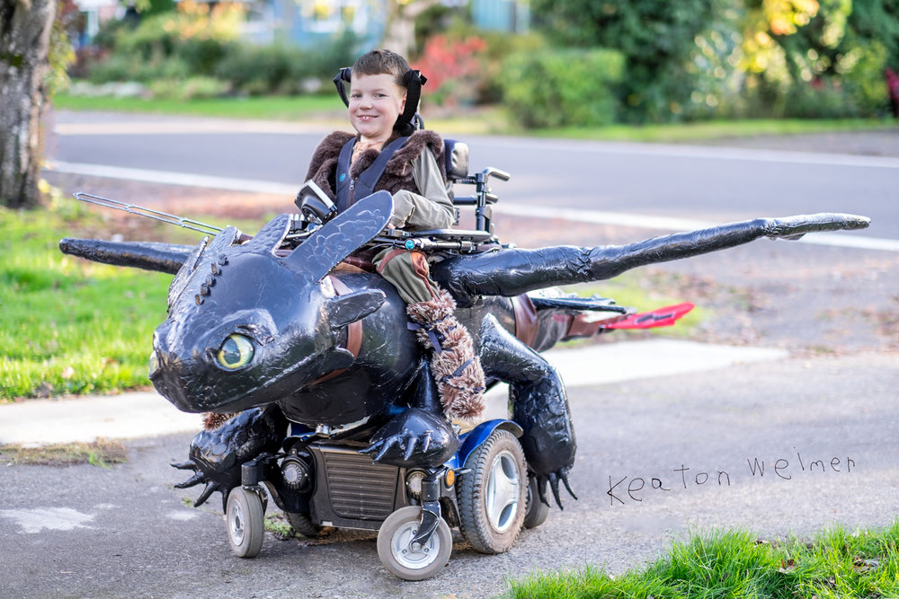 Above: Grade A Parenting. But seriously, ain't nobody got time for that! Photo courtesy of Magic Wheelchair.