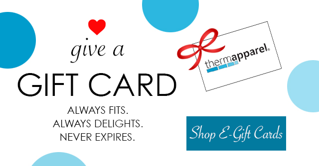 Gift card ad displayed. Click here to shop e-gift cards: Always fits. Always delights. Never expires.