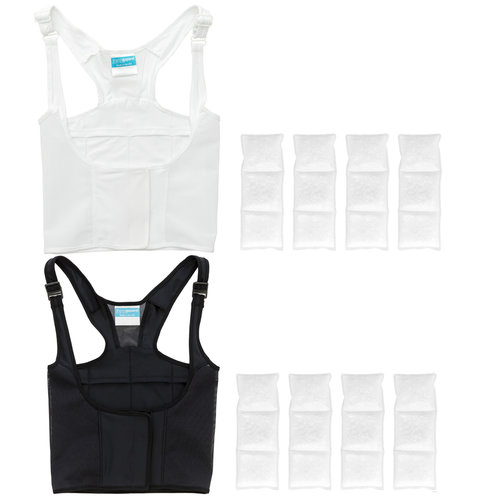 ThermApparel's UnderCool Cooling Vest comes in White and Black.  Shop Now.