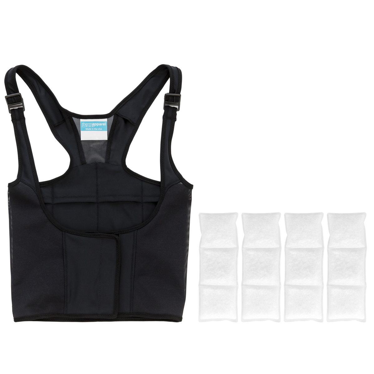 $199.99 UnderCool Bundle - 1 UnderCool Cooling Vest with 1 set (4) UnderCool PCM Cooling Packs