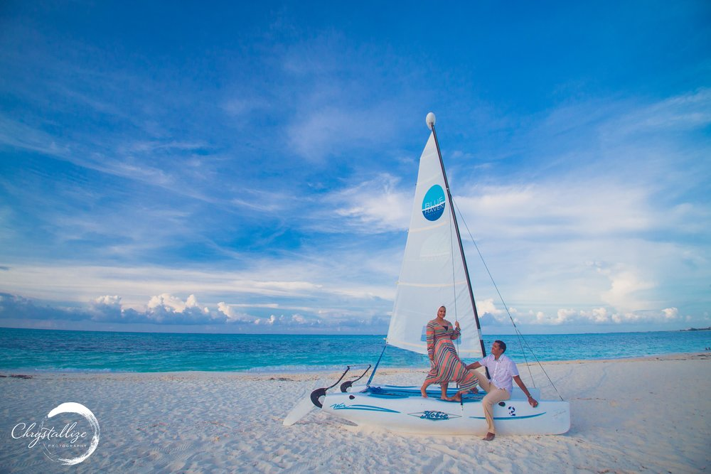 Sailing has been one of Sarah & Shuabe favorite activity while living on the island.