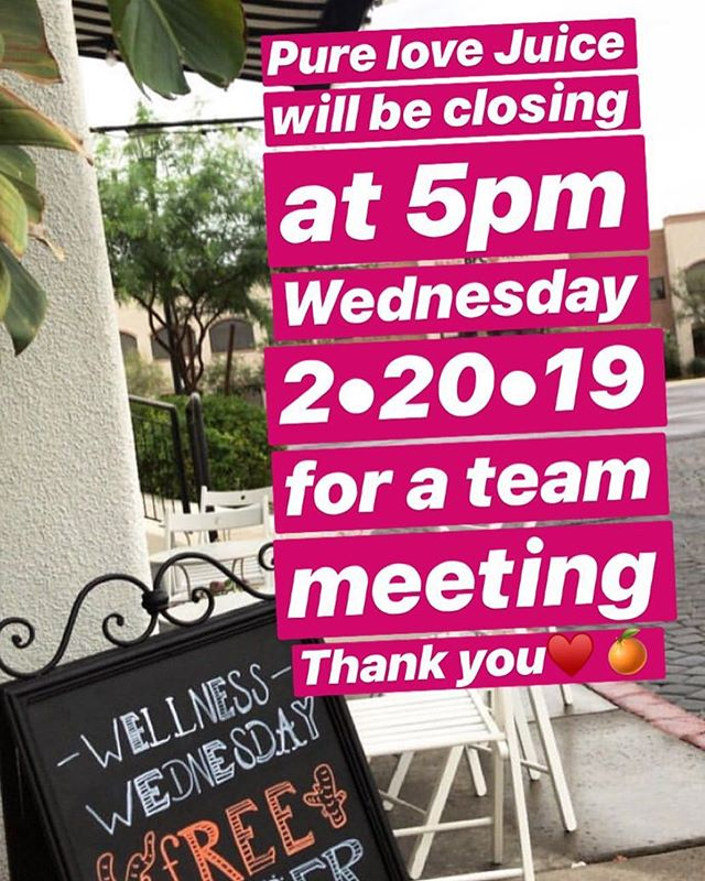 We will be closing early today at 5pm ♥️🍊
