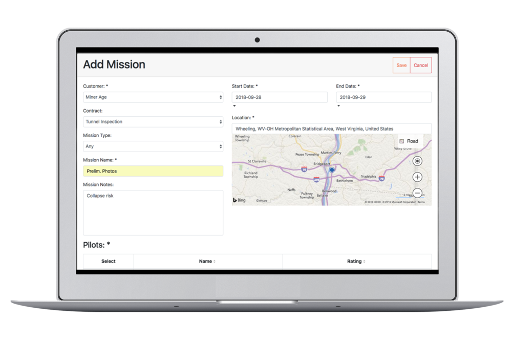 How to activate - Plan and assign missions to in-field pilots via the iOS app. Flight data is captured and synced to the cloud for faster insurance processing.