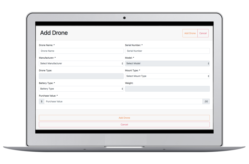 Auto-add assets - Speed up the insurance process with handy features like auto-adding assets and pilots to policies.