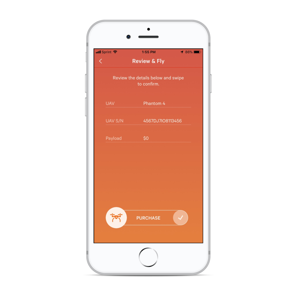 Swipe to purchase - At point of flight cover has never been so simple. Just review the details in the iOS app before flying and swipe to activate.