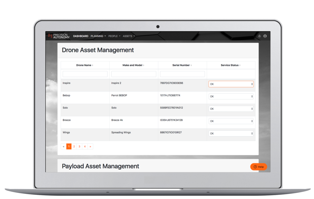 Manage your fleet - Monitor your assets to ensure pilots are flying with safe and functional equipment.Schedule maintenance or archive assets to suspend them from missions.