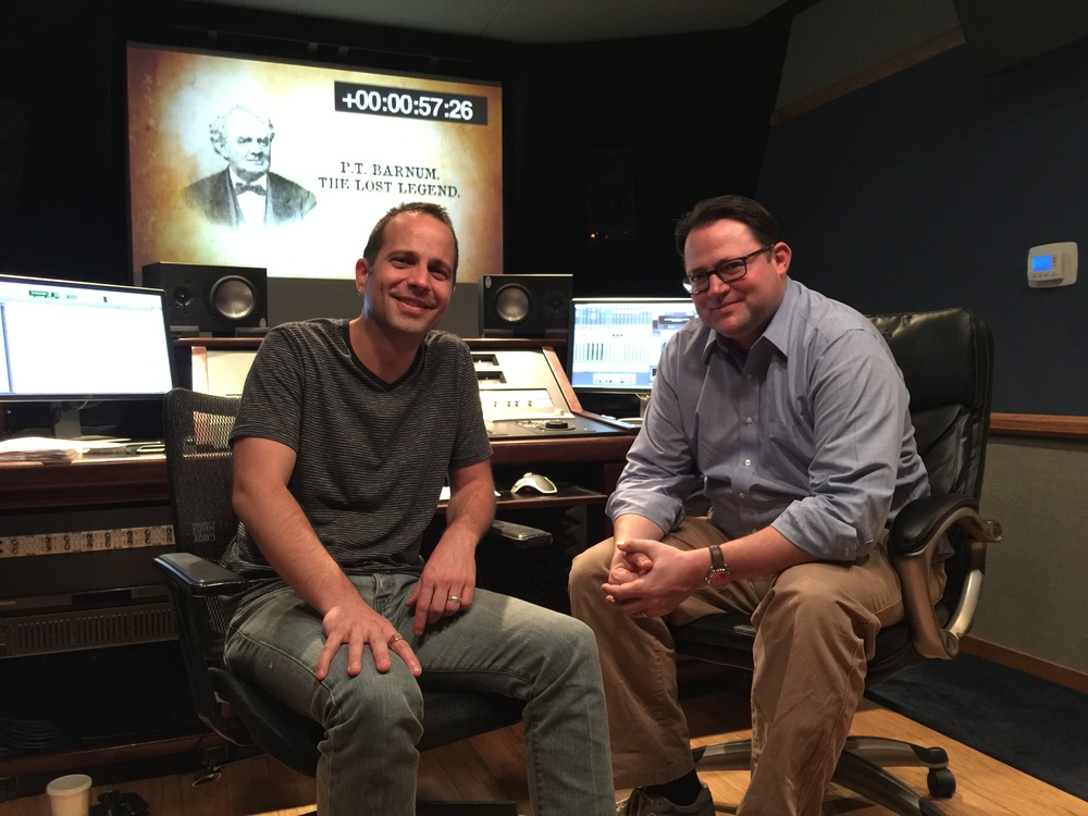 "Mixing ""P.T. Barnum_The Lost Legend"" with Director Corey Boutilier (March 2016)"