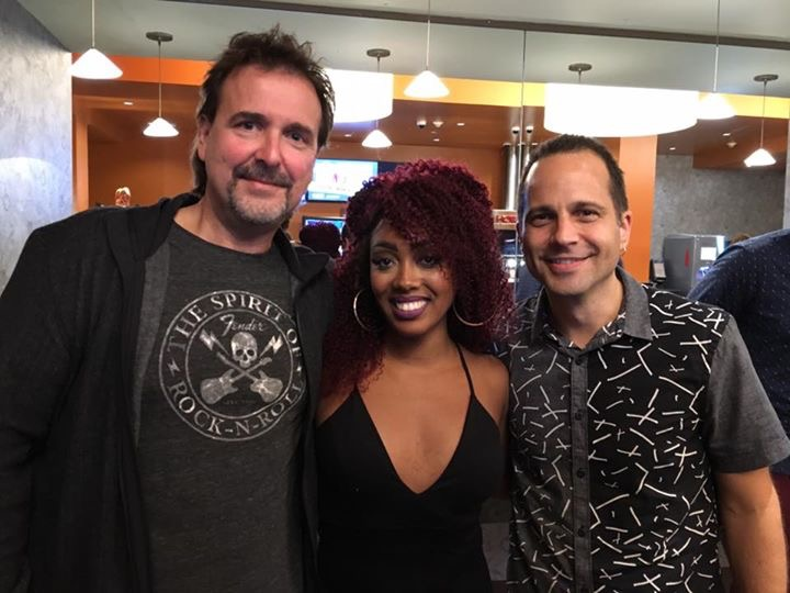 """Illicit"" screening with (L-R) composer dave Bateman and writer/actress Lanett Tachel"