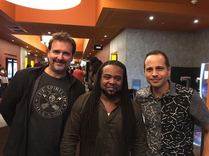 """Illicit"" screening with (L-R) composer dave Bateman and writer/director Corey Grant"