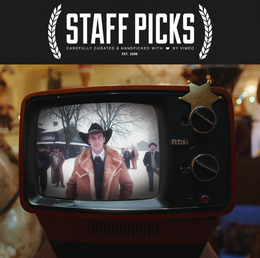 "Mel films' ""Return To High Chaparral"" wins Vimeo Staff Pick of the Week, as well as short of the week."
