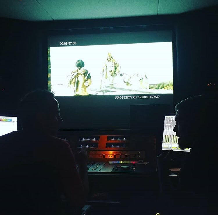"Sound designing and mixing with director Brian Presley on forthcoming feature ""The Great Race"""