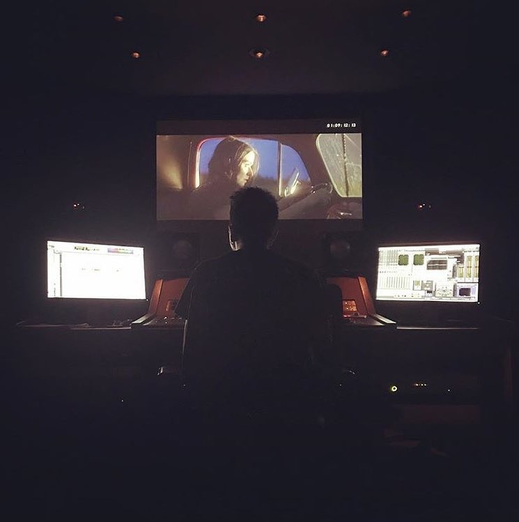 Doing some sound design and mixing on Josh Giuliano's latest horror film