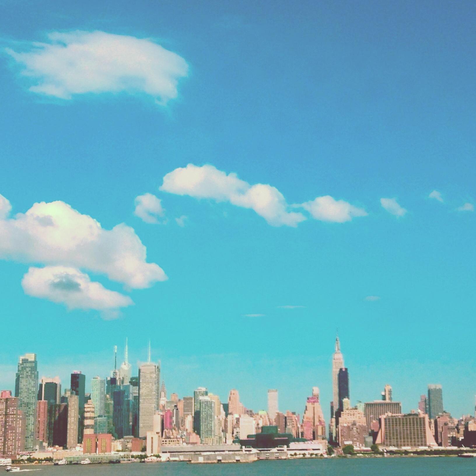 NYC turquoise skyline