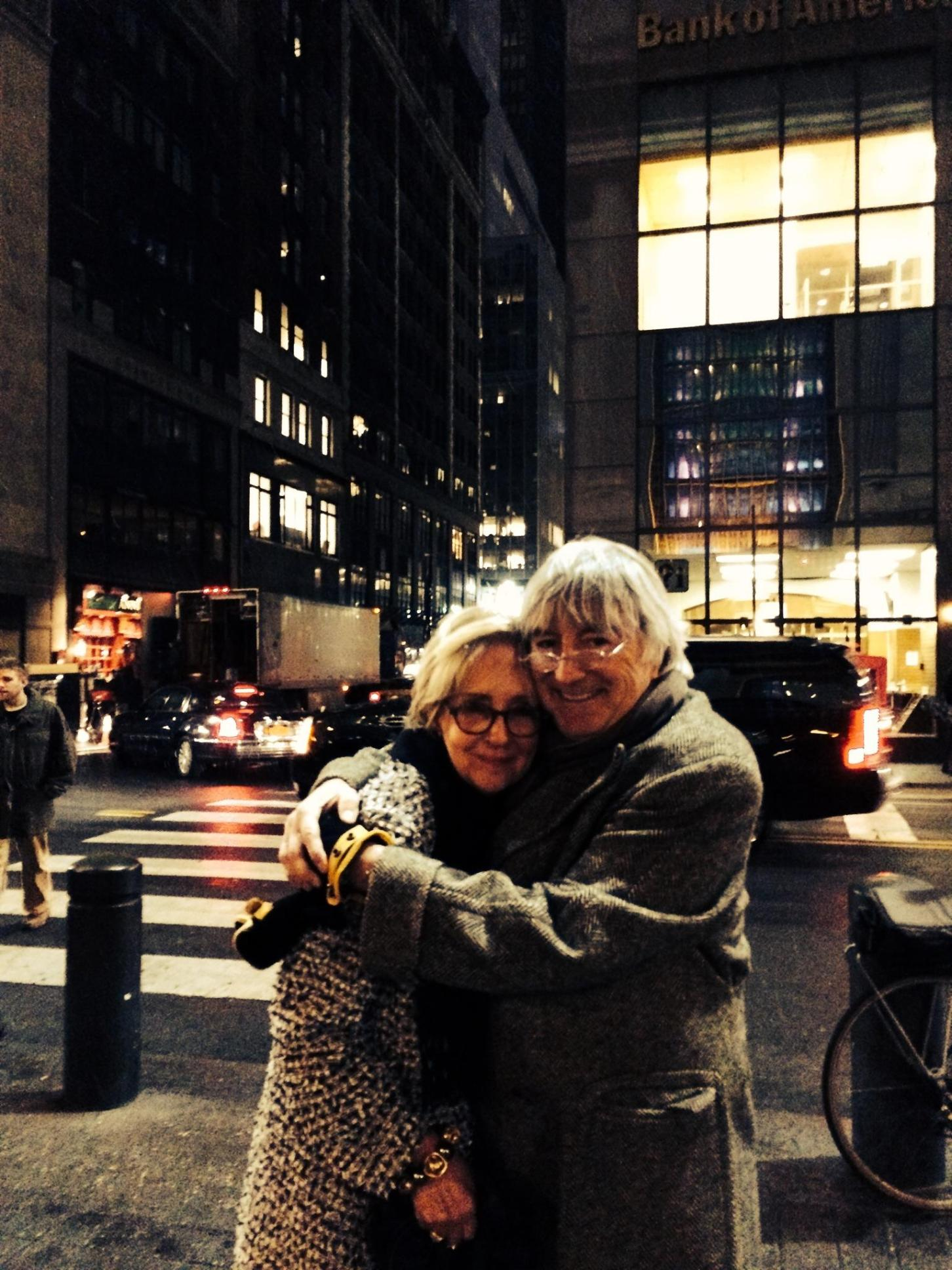 Mom and John 11.23.13 snow in NYC