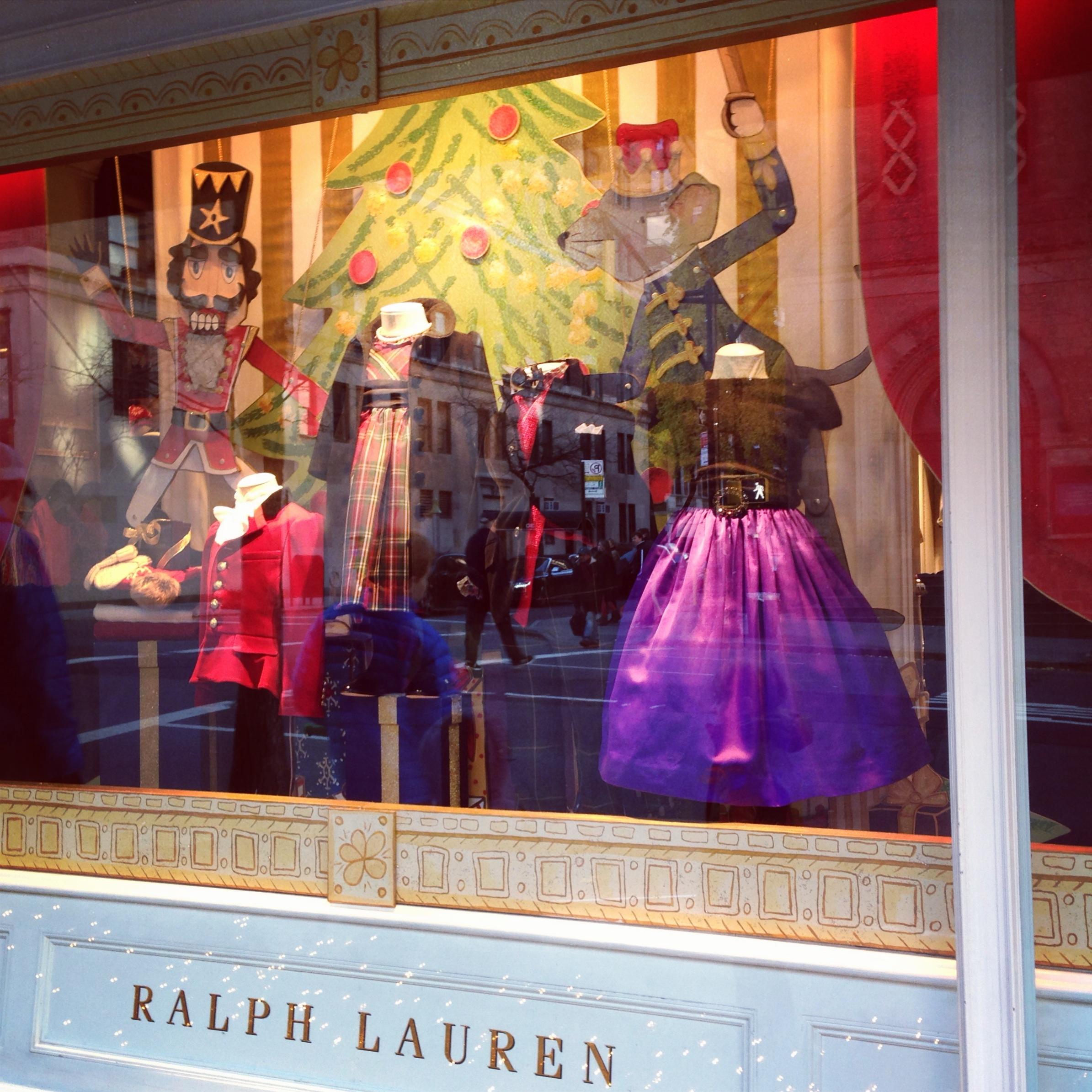 Ralph Lauren holiday window