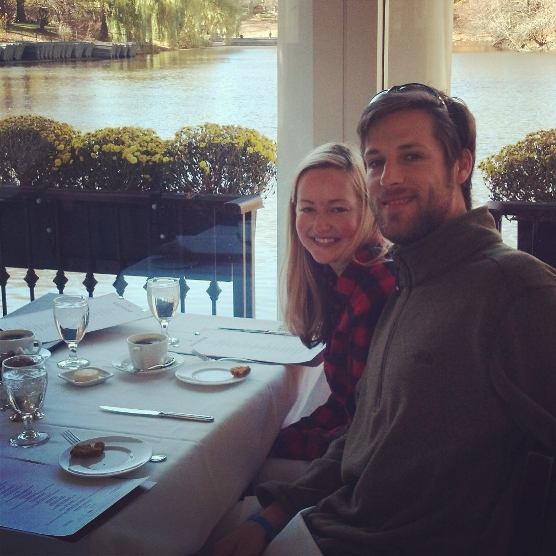with Patrick in Central Park Boathouse 11.23.13