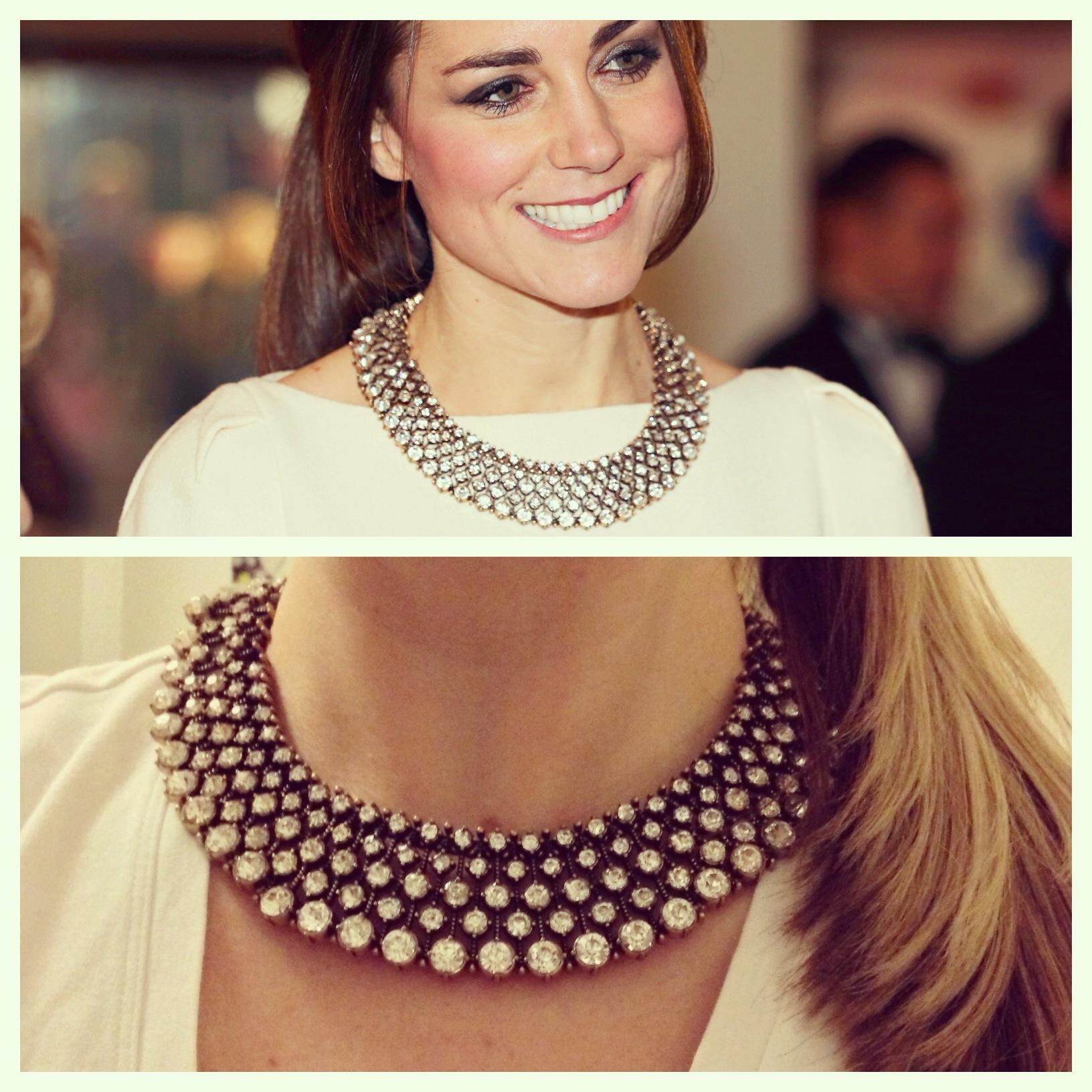 Kate Middleton in Zara necklace