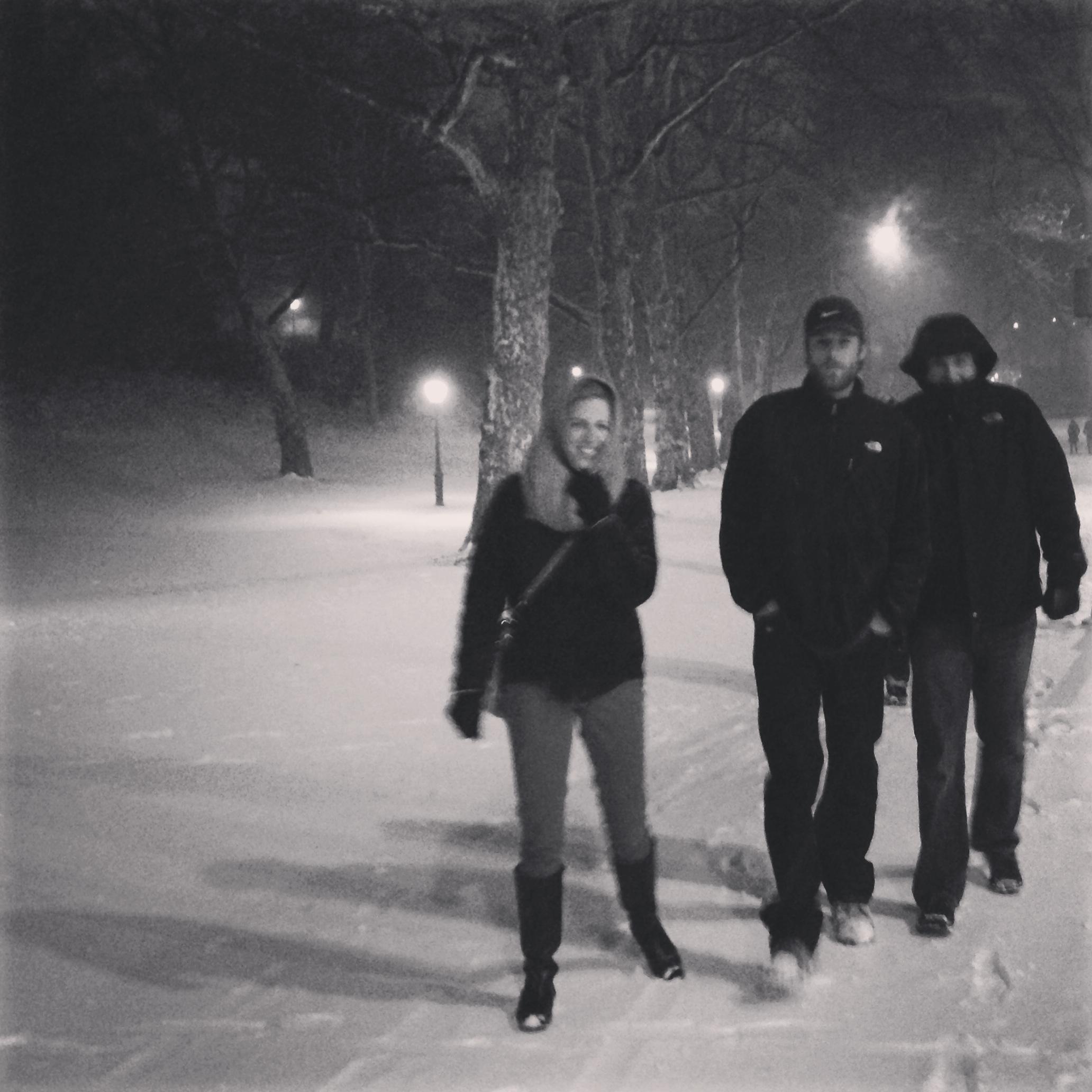 Meaghan, Patrick, Scott Central Park 2013