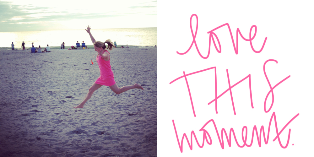 jumping in the sand, love this moment quote