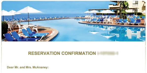 Hotel Confirmation