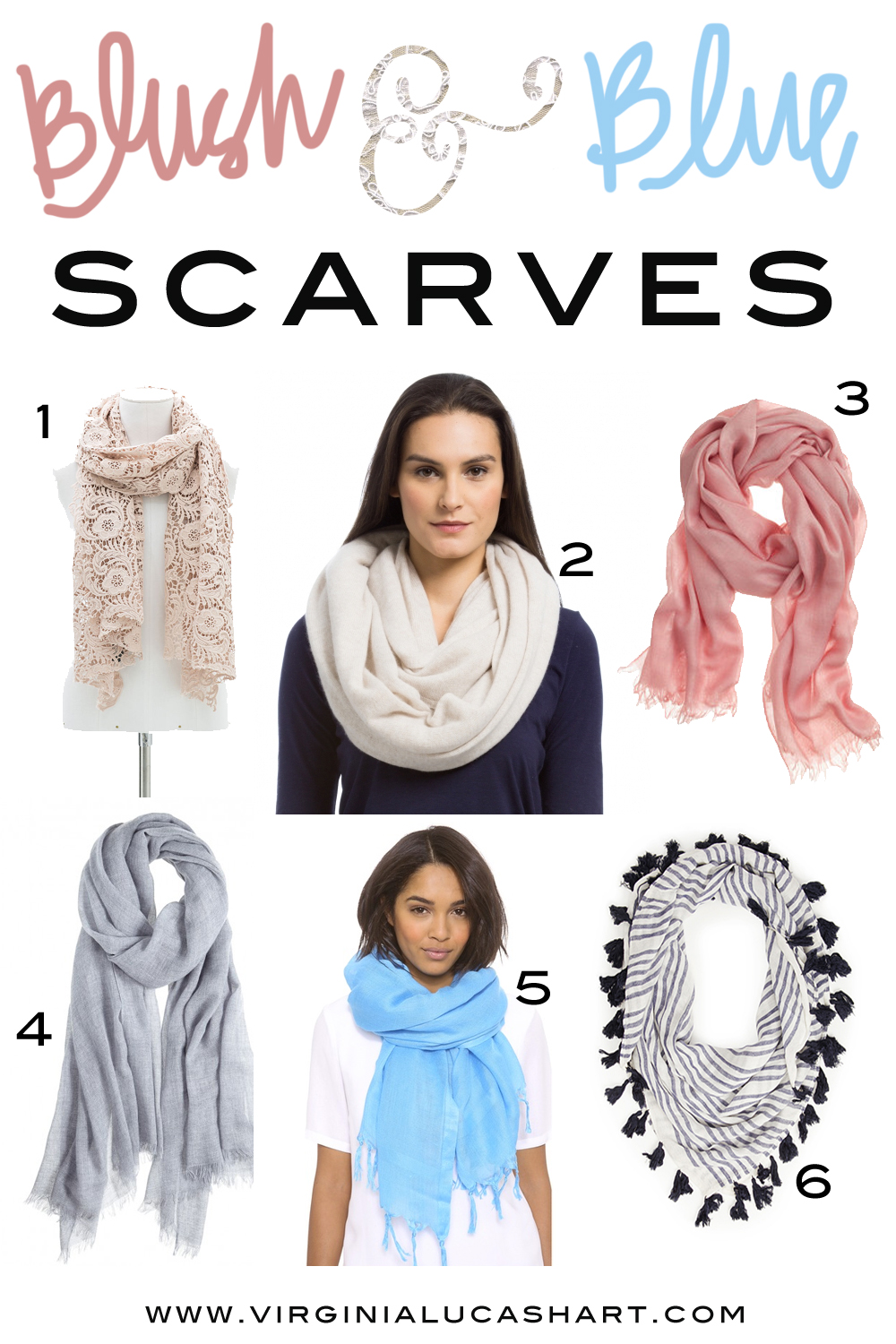 blush and blue scarves
