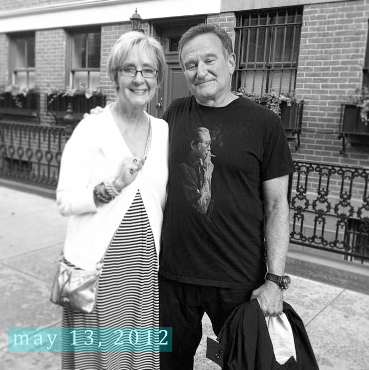 Mom and Robin Williams