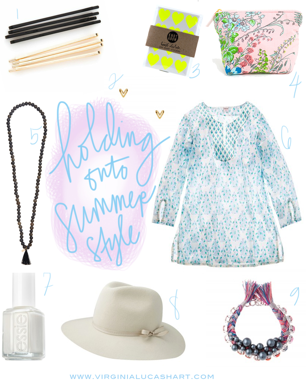 holding onto summer style