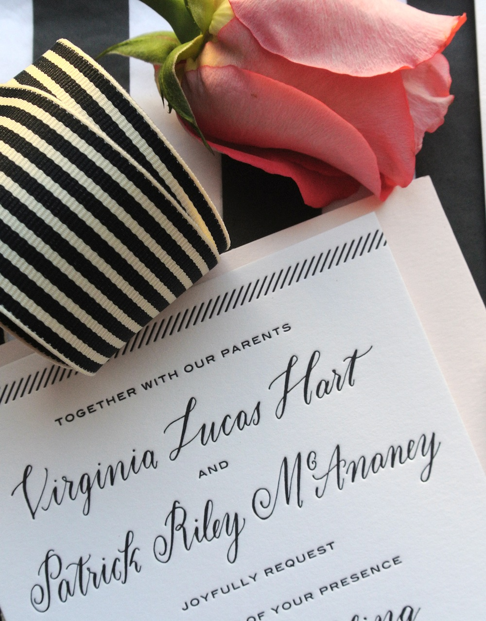 wedding invitation suite by Virginia Lucas Hart - photo 5