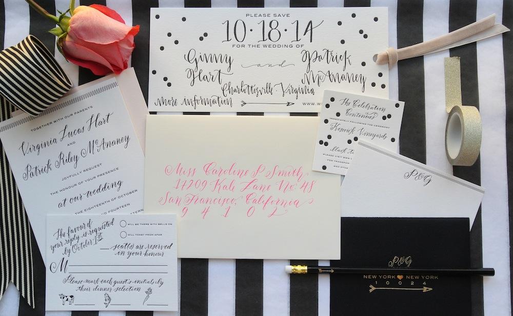 wedding invitation suite by Virginia Lucas Hart - photo 6
