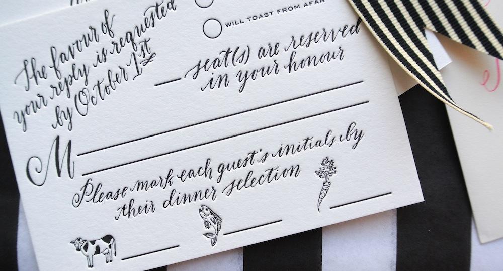 wedding invitation suite by Virginia Lucas Hart - photo 7