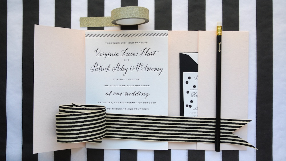 wedding invitation suite by Virginia Lucas Hart - photo 8