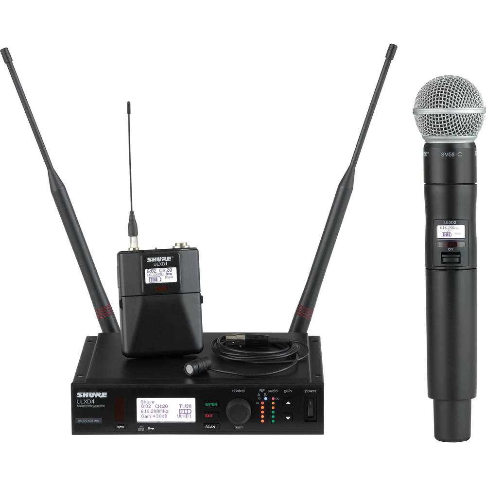 SHURE ULXD WIRELESS MICS