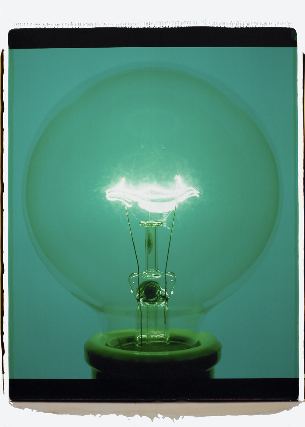 """Light Bulb 14341, 2007,"" Color Polaroid."