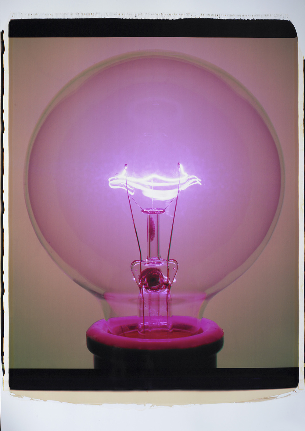 """Light Bulb 017PPa, 2007 (G6),"" Color Polaroid."