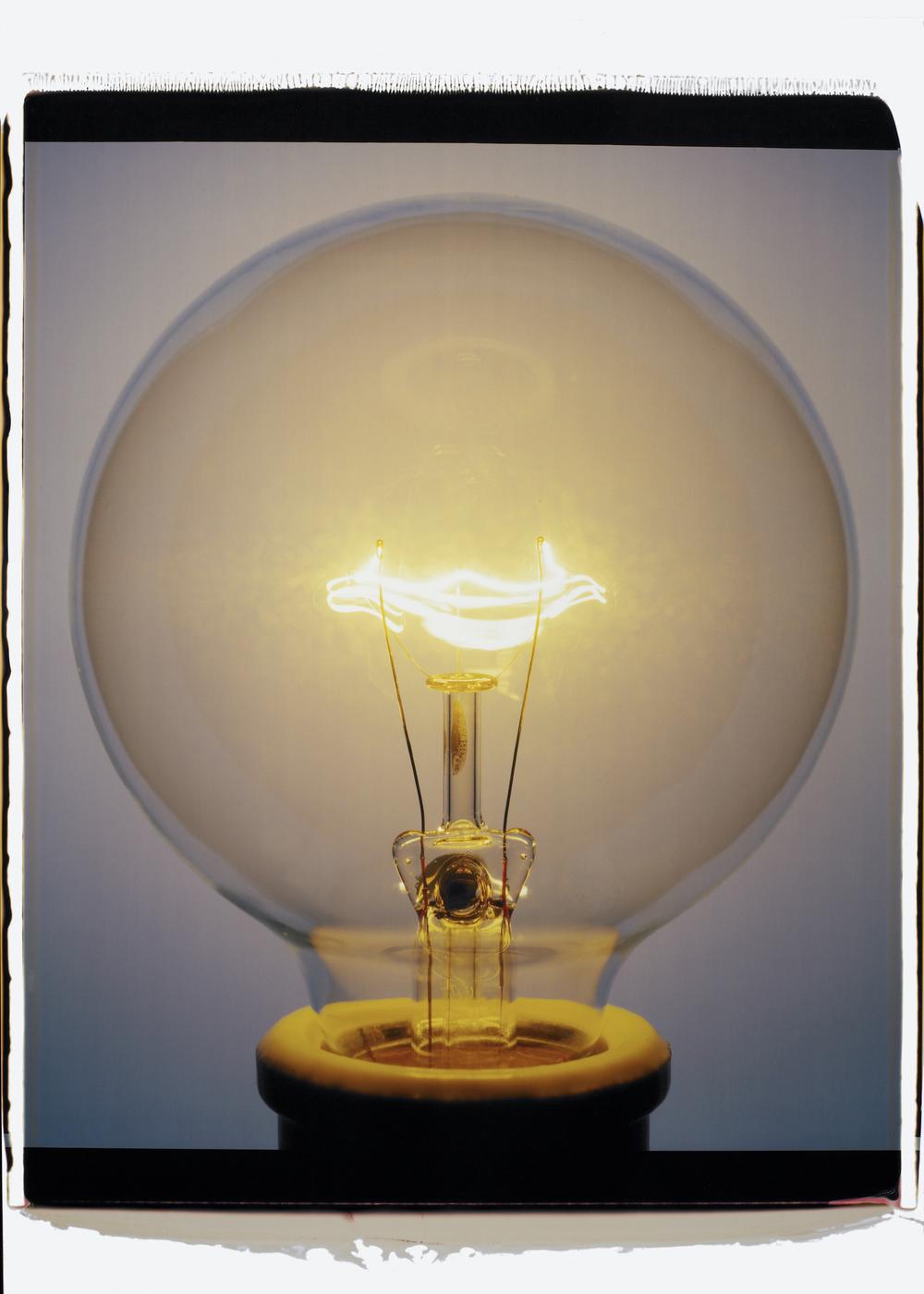 """""""Light Bulb 015YBc, 2007,"""" Color Polaroid."""