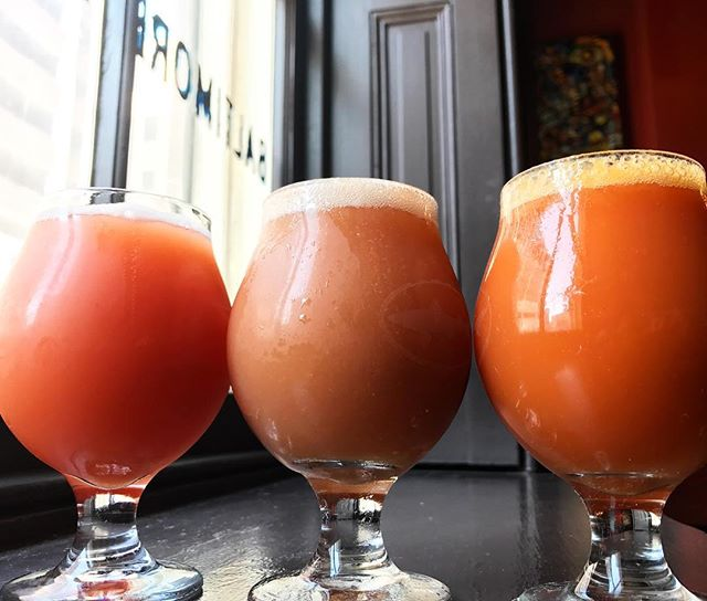 We just tapped all three of Adroit Theory's new Illusion of Safety triple fruited goses: apricot/pomegranate/jalapeño, white peach/pink guava, mango/blood orange ...these are wild🍻 . . . . . . . . . . . . . . . . . . . #craftbeer #sourbeer #fruitbeer #adroittheorybrewing #VAbeer #baltimorebeer #beerbar #beerstagram #imbibegram #beergeek #summerdrinks #mybmore #visitbaltimore #charmcity #craftbeerstagram #craftbeerlove #gastropub #downtownbaltimore #alewifebaltimore