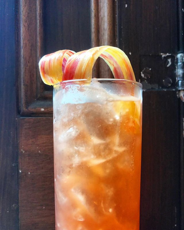 Orioles and Yankees at the yard.. perfect day for a Baltimore Buck Showalter: Maryland Club bourbon + strawberry + rhubarb + balsamic + ginger beer #thankgodimacountryboy . . . . . . . . . . . . . . . . . #craftcocktails #baltimoredrinks #opacy #camdenyards #baltimoreorioles #downtownbaltimore #bmoredrinks #baltimorefoodie #imbibe #imbibegram #summerdrinks #rhubarb #beerbar #alewifebaltimore