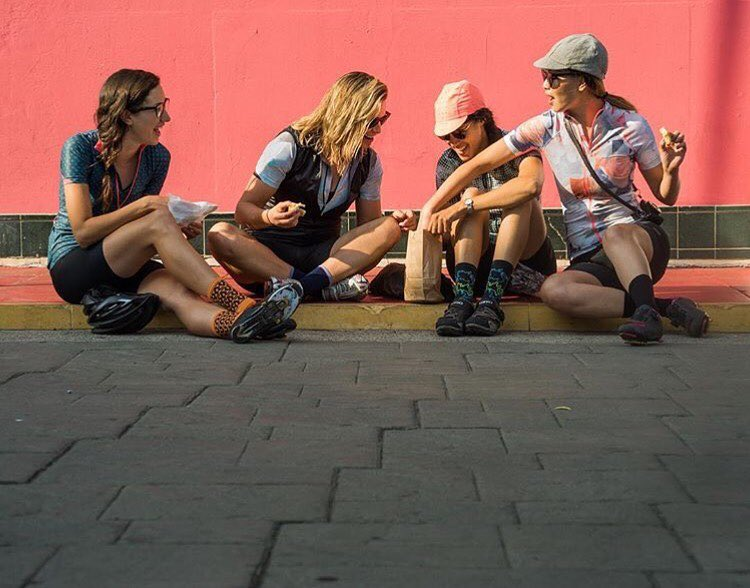 Emily (second from left)and her Machines for Freedom crew in Los Angeles.  Photo by: Tracy L.Chandler