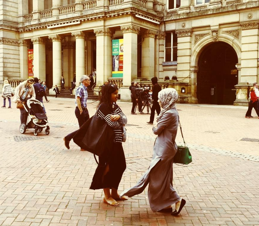 Steffie in Birmingham on the set of My Hijab, My Business