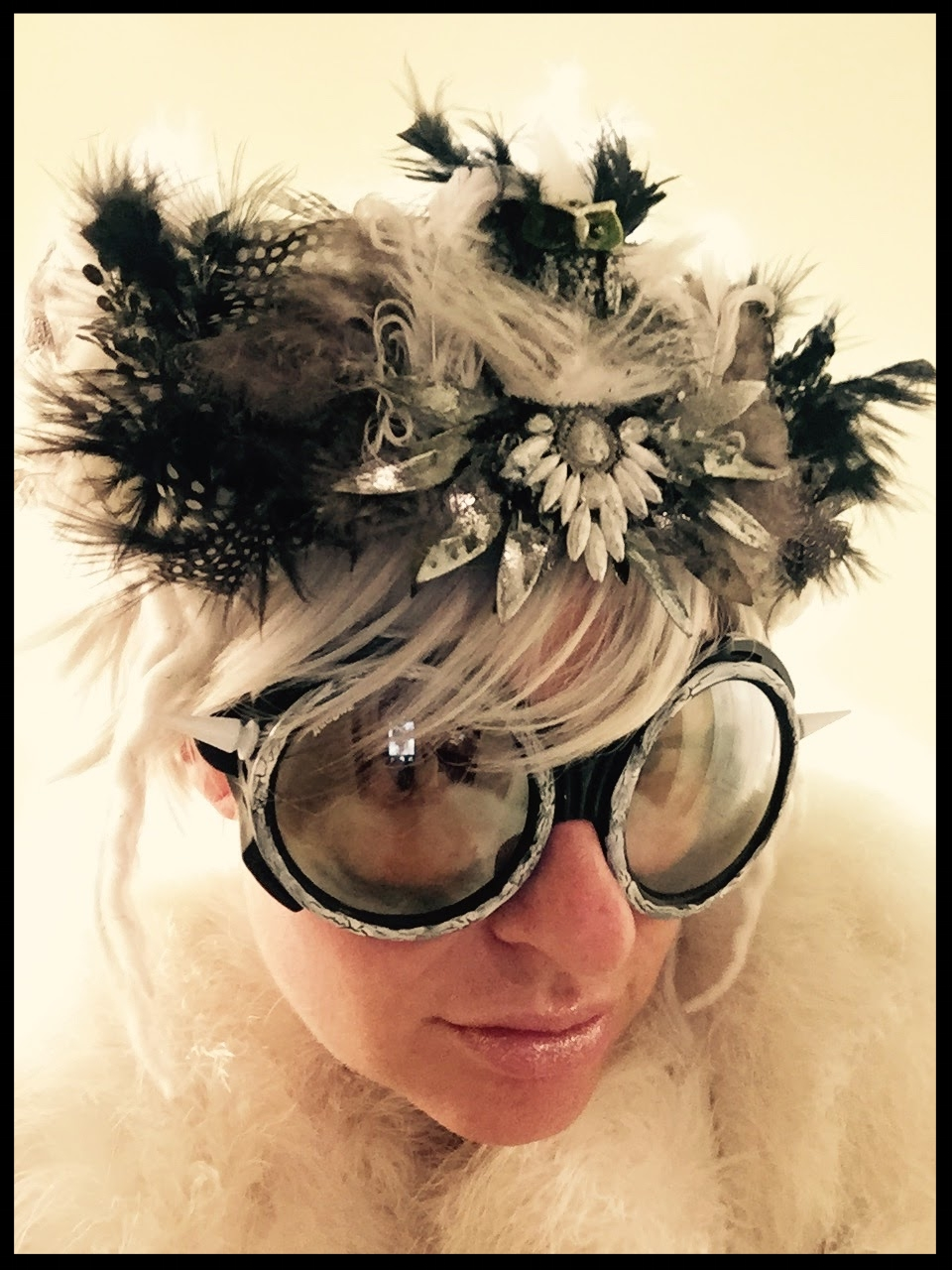 Feather Headpiece & Goggles