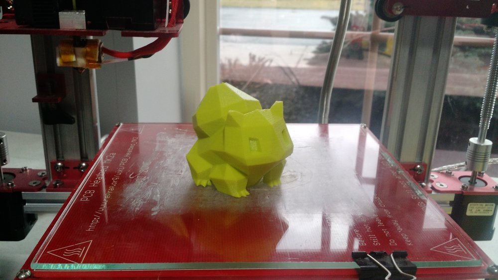 A Bulbasaur Pokemon created by one of the engineering students.