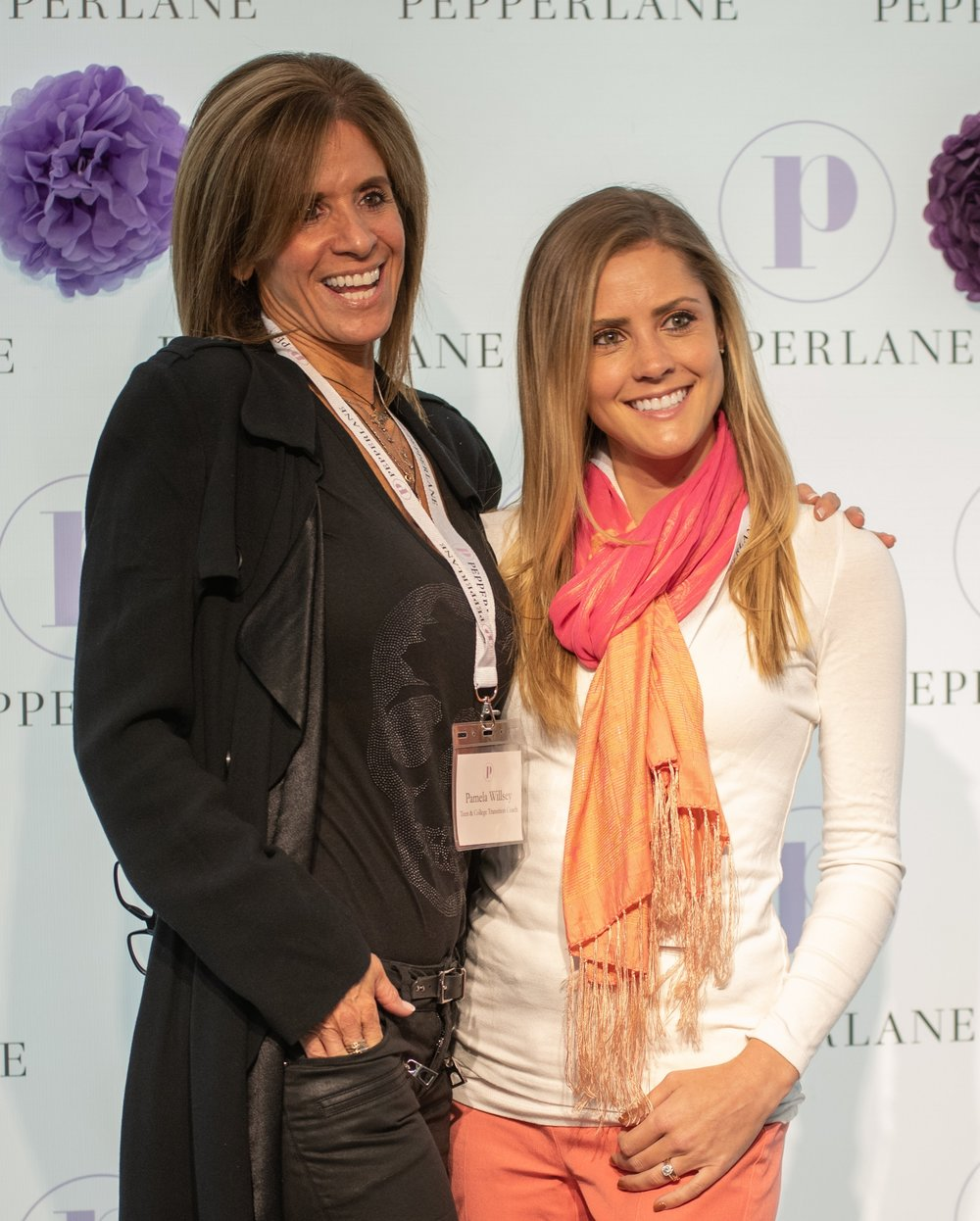 Pamela Willsey  with member  Becky Mariano