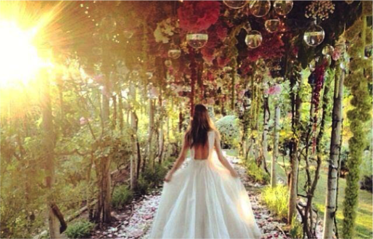 Themed Inspiration Secret Garden Lamare London Luxury Wedding