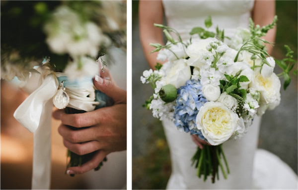 Images courtesy of:  Style Me Pretty   (L-R): P:  Spindle Photography ; P:  Lauren Methia Photography  | F:  A Schoolhouse Garden