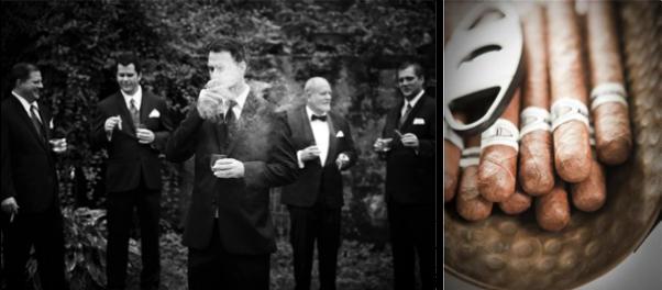Groom & Ushers: P: Georgi Anastasov ; Cigars: Style Me Pretty | P: LG Photographers